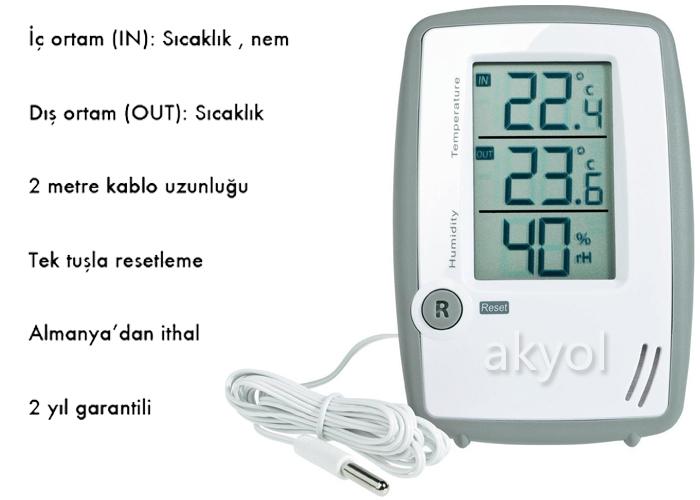 TFA 30.5024 iç dış sıcaklık ve nem ölçer