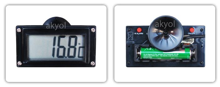 9287 kablolu termometre