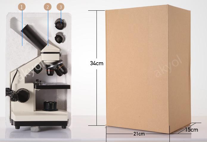 640x monoküler mikroskop