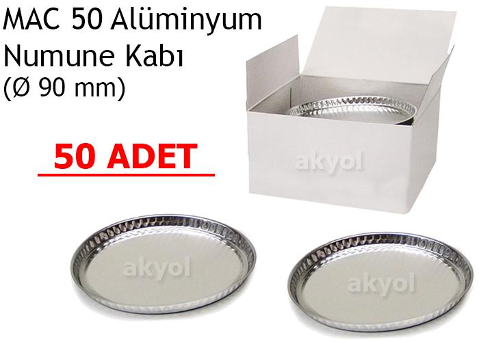 mac 50 alüminyum numune kabı