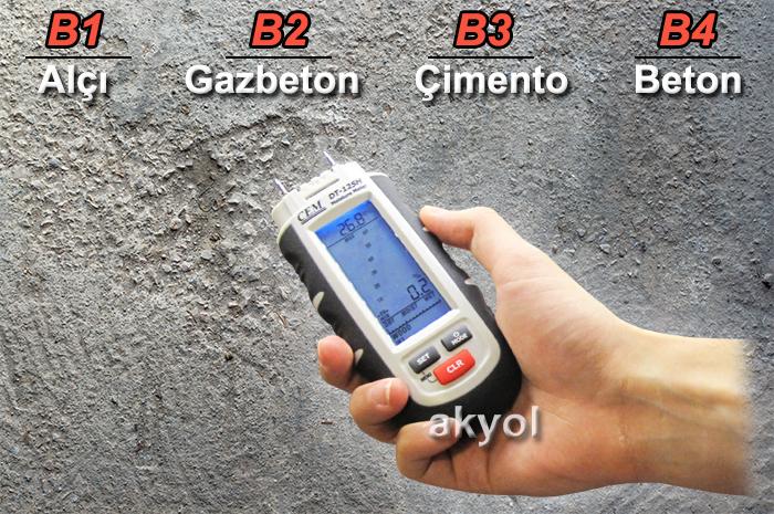 dt125h ahşap beton nem ölçer