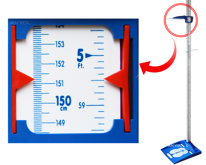 mekanik boy ölçme çubuğu