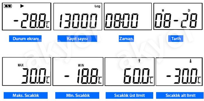 sıcaklık kayıt cihazı datalogger