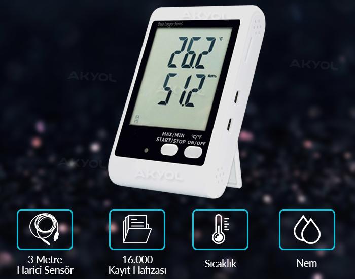 dijital nem ve sıcaklık kayıt cihazı