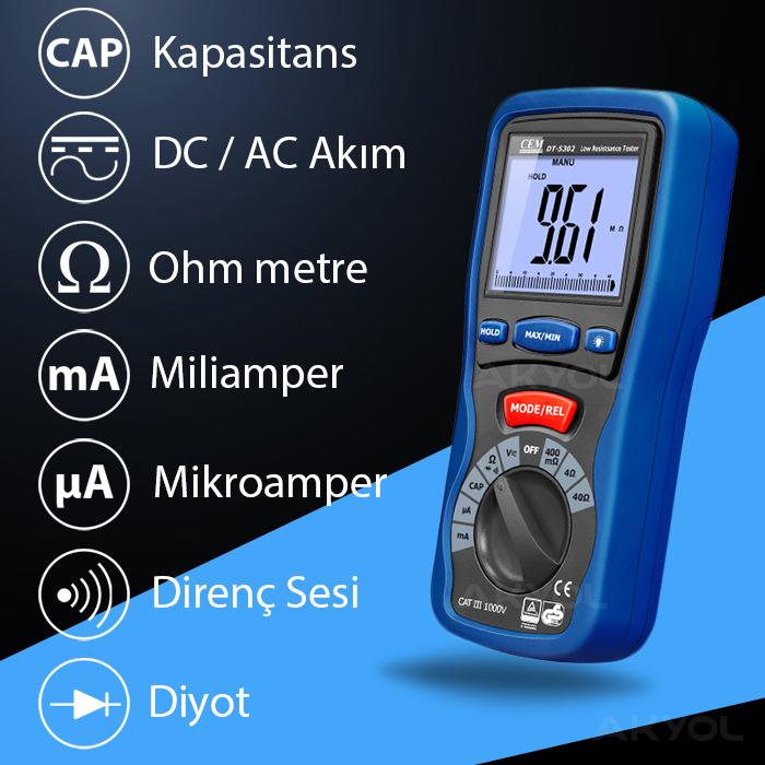 cem dt 5302 dijital multimetre
