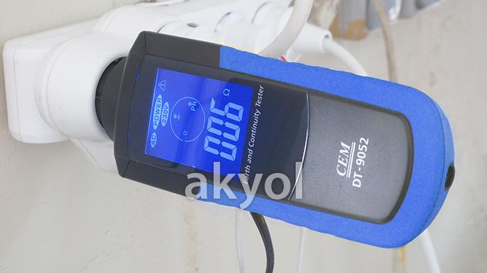 dt-9052 topraklama ölçer cihazı