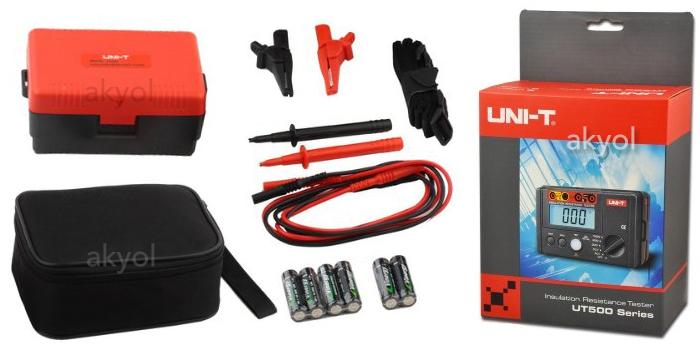 unit ut502 izolasyon direnci test cihazı