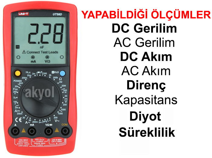 dijital multimetre ut58d