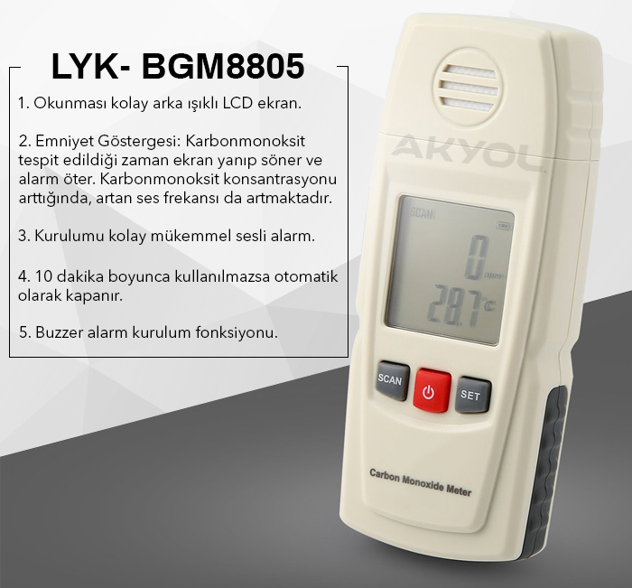 karbon monoksit ölçüm cihazı
