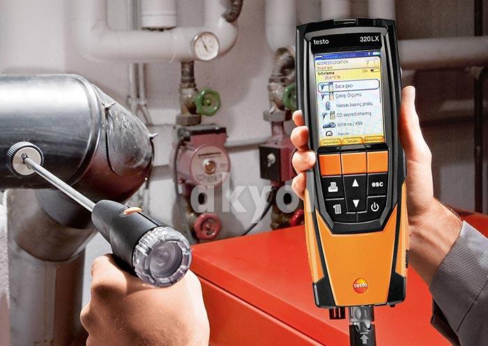 testo 320 lx baca gazı analizör