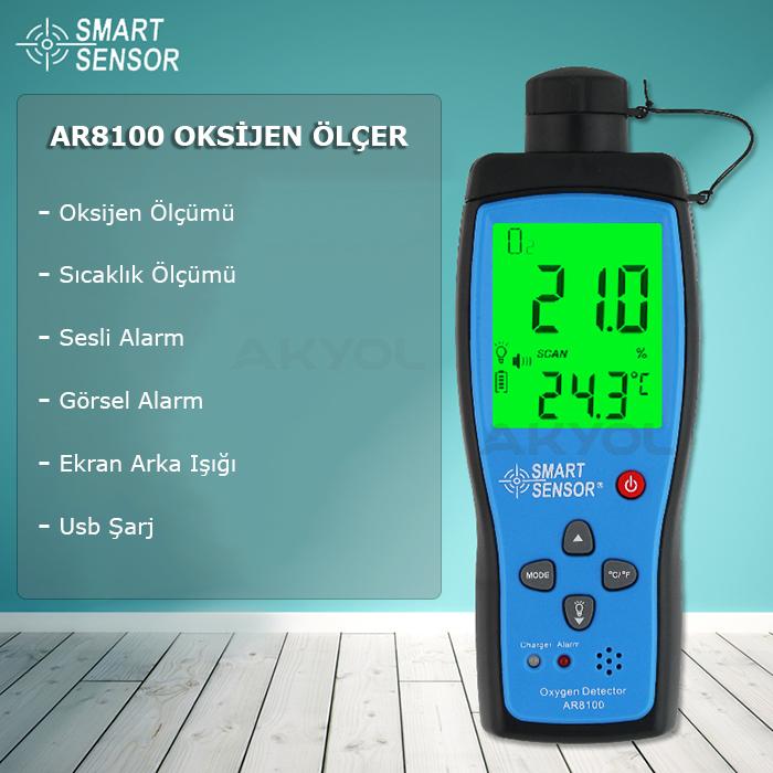 ar8100 oksijen dedektör cihazı