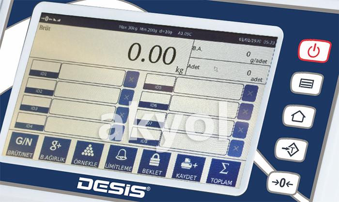 b7100 dokunmatik ekranlı kantar