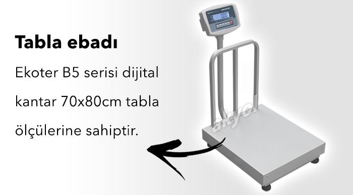 ekoter b5 elektronik baskül 600 kg