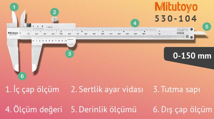 mitutoyo 530-104 150 mm kumpas