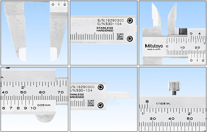 mitutoyo 530-104 mekanik kumpas