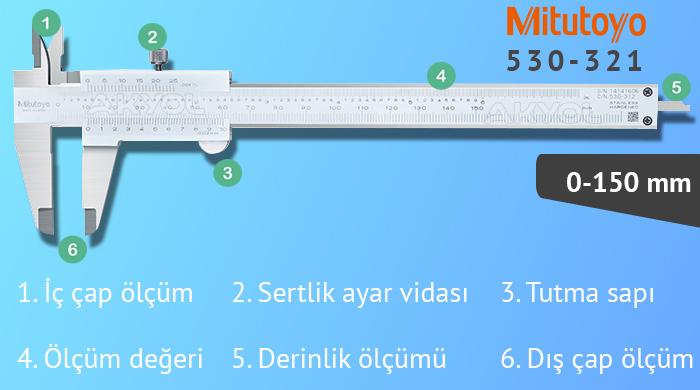 mitutoyo 530-312 0-150mm kumpas