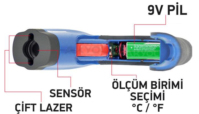 cem dt 8865 kızılötesi termometre satın al