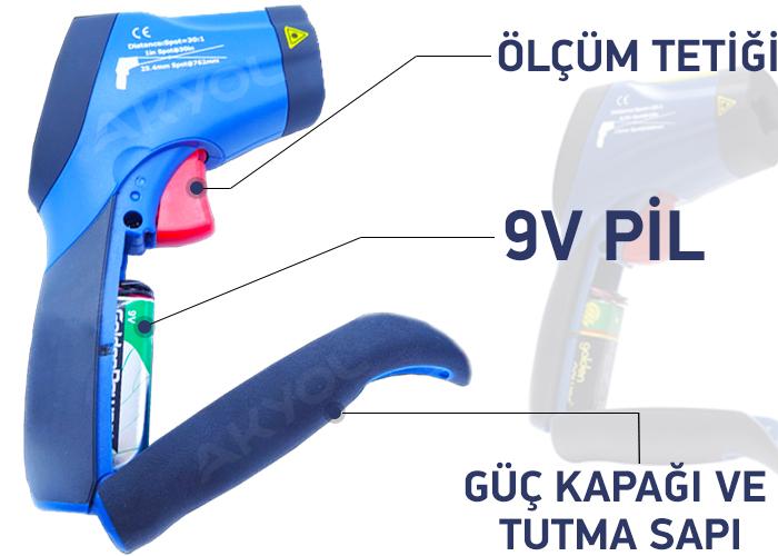 DT 8865 çift lazerli termometre