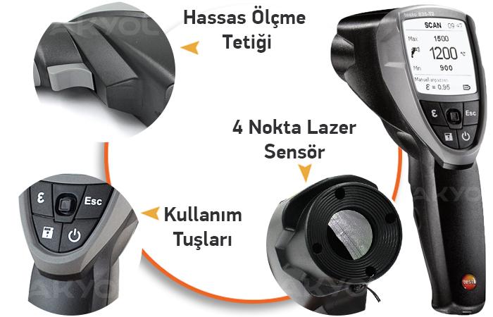 testo 835-T2 kızılötesi termometre