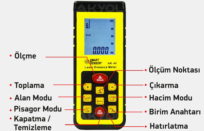 smart sensor ar-40 hacim ölçer