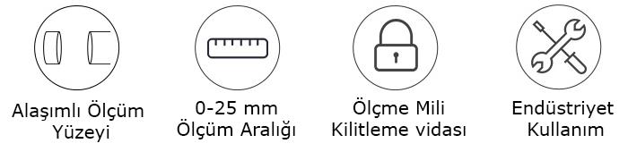 mitutoyo 103-129 mekanik mikrometre