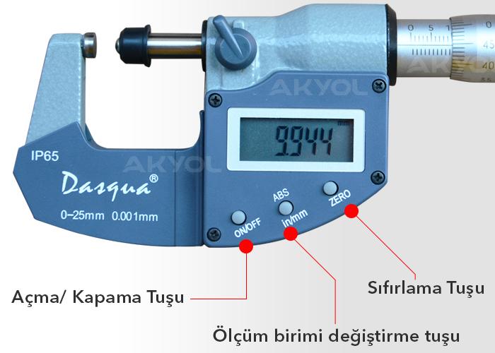 dijital mikrometre cihazı