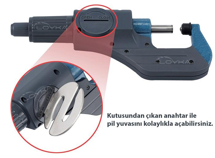 5202-25 hassas dijital mikrometre