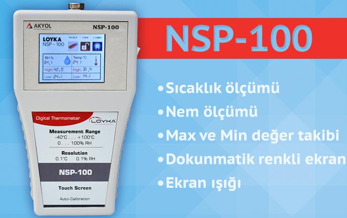 nsp 100 ısı ve nem sondası