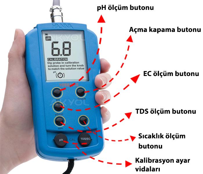 hanna hi 9812-5 EC ölçer