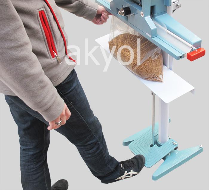 dikey ayaklı poşet kapama makinası