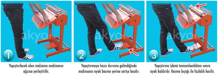 ayaklı poşet yapıştırma makinası