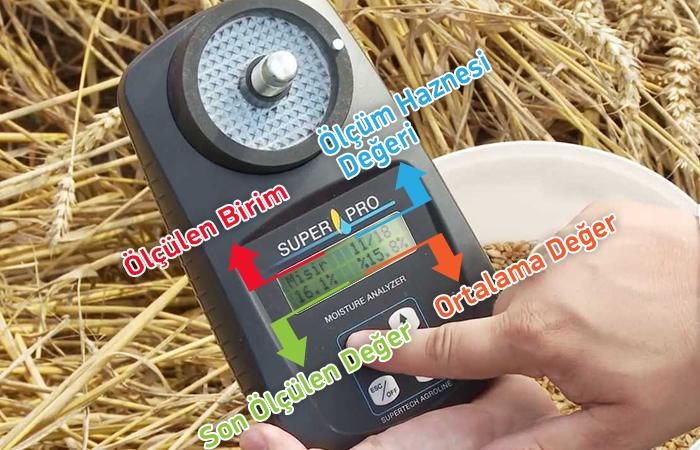 superpro kırmalı tahıl nem ölçer