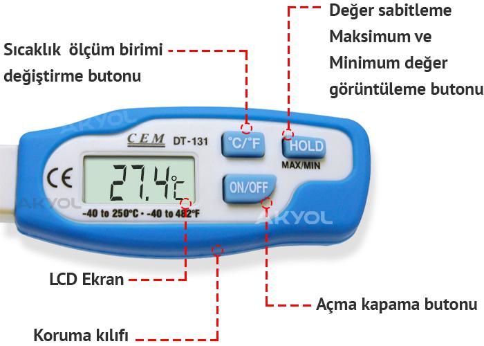 saplama problu gıda termometresi