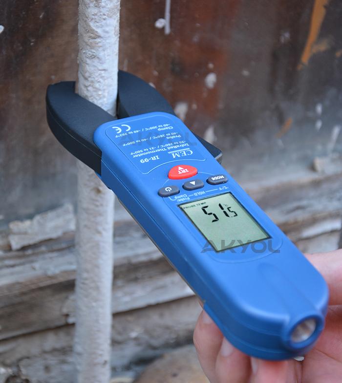 Cem IR99 kelepçe termometre