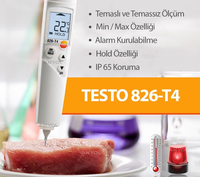 Testo 826-T4 Gıda Termometresi