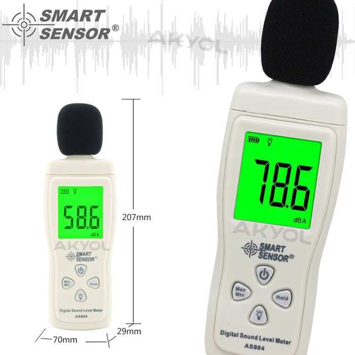 Smart Sensor AS 804 ses ölçer