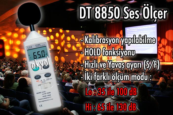 cem dt 8850 ses ölçer
