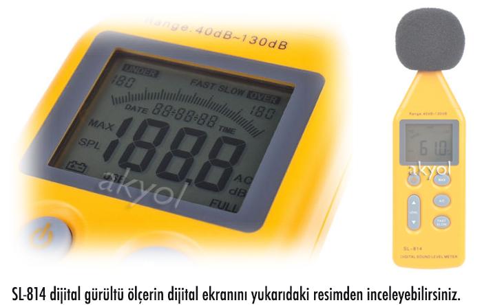 dijital gürültü ölçer