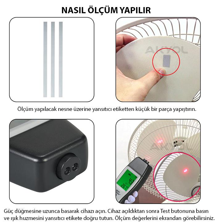 Smart-sensor-as926-temassız-devir-ölçer