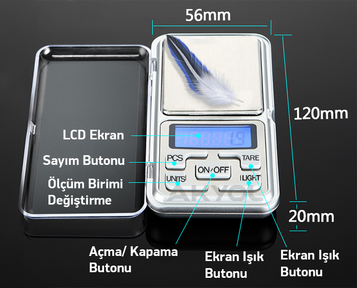 Pocket Mh 0.1gr terazi