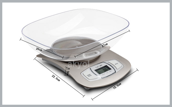 EK 3650 terazi ölçüleri