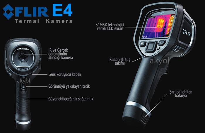 flir e4 ısı kaçağı tespit cihazı