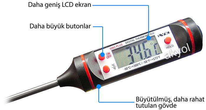9263 plus çubuk termometre