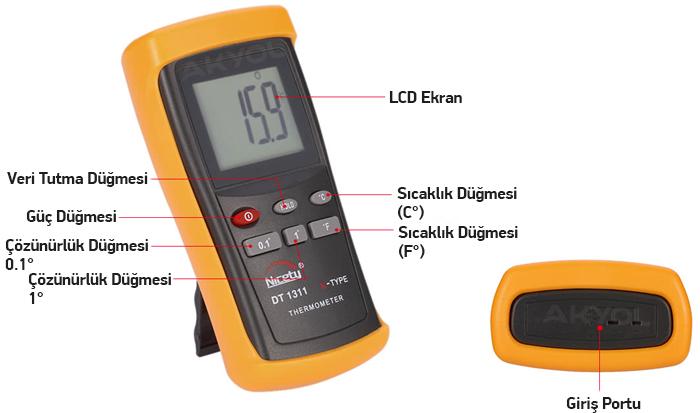 nicety dt 1311 k tipi termometre