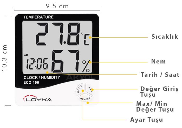 eco 100 sıcaklık ölçer