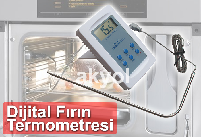 elektronik fırın sıcaklık ölçer