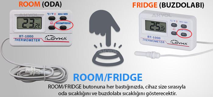 buzdolabı sıcaklık ölçer