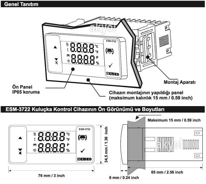 nemli elektronik termostat