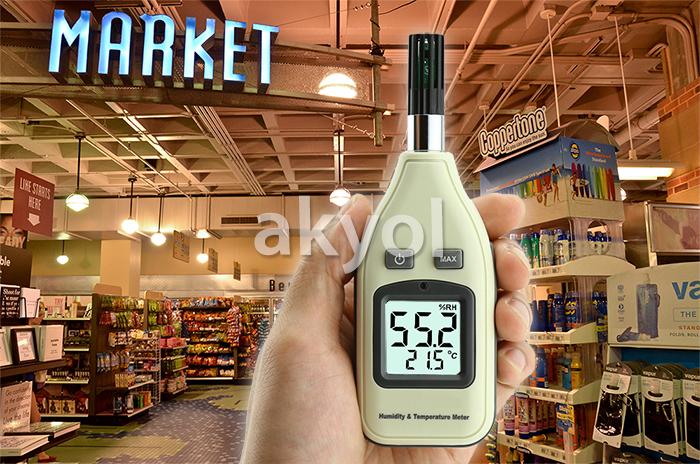 elektronik sıcaklık ve nem ölçer