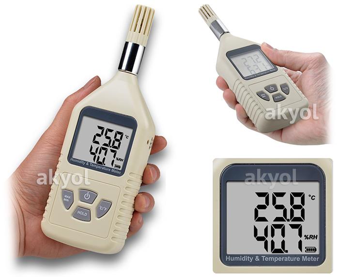 portatif sıcaklık ve nem ölçer